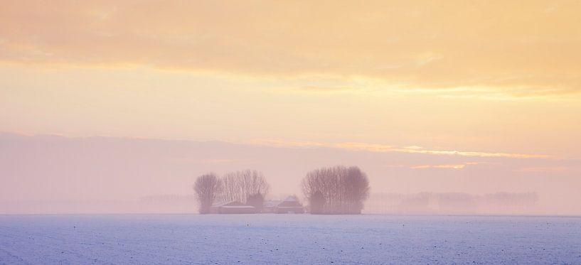 Winterlandschap Zeeland van Frank Peters