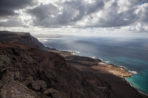 High viewpoint coastal view Lanzarote van