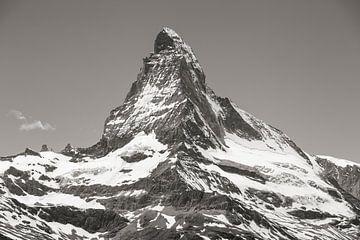 Hörnli arete Matterhorn noir et blanc