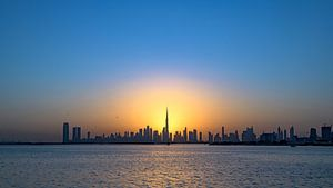 Ligne d'horizon de Dubaï sur Dirk Verwoerd