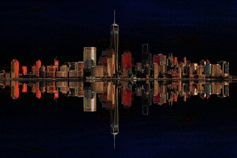 9. city-art, NY, Manhattan 2 van Alies werk