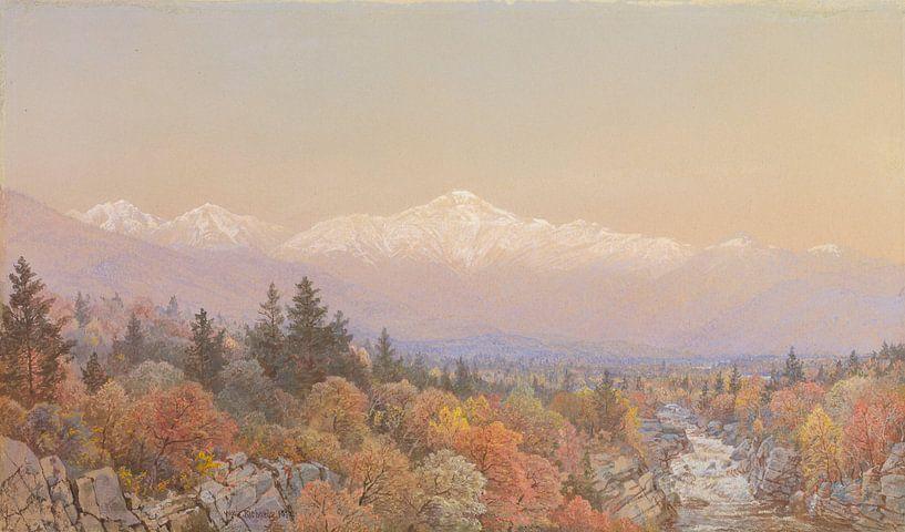 William Trost Richards - Herbstlicher Schnee auf dem Mount Washington von finemasterpiece