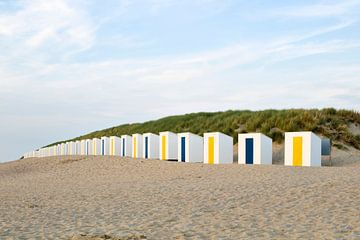 Chalets de plage à Cadzand, en Zélande sur Rob van Esch