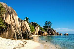Droomstrand Anse Source d'Argent -  La Digue - Seychellen