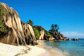 Plage de rêve Anse Source d'Argent -  La Digue - Seychelles sur Max Steinwald