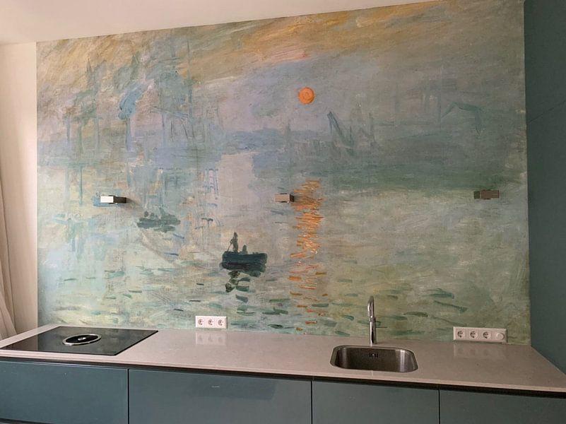 Klantfoto: Zonsopgang (Impression, soleil levant), Claude Monet van Meesterlijcke Meesters, op behang