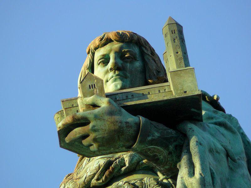 Heinrichsbrunnen (Heinrich der Löwe) auf dem Hagenmarkt  van Ralf Schroeer