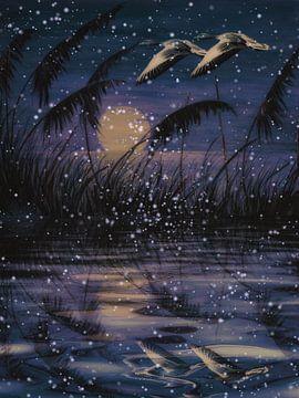 Nighttime - Het begint te sneeuwen van Christine Nöhmeier
