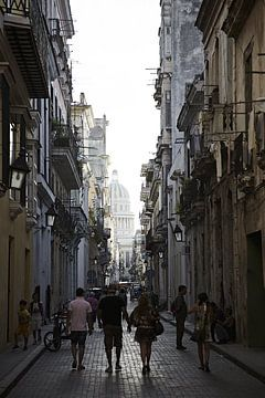 Stadsgezicht Havana van Karel Ham