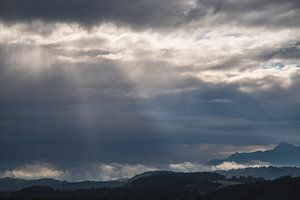 Spektakulärer Himmel über dem Murnauer Moos von Fartifos