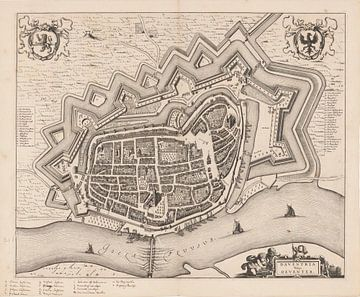 Karte von Deventer von 1657