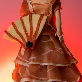 Art alimentaire flamenco à l'espagnole sur Kim Willems