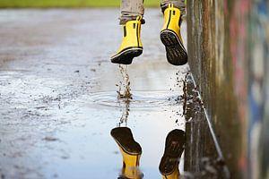 Gele laarzen van