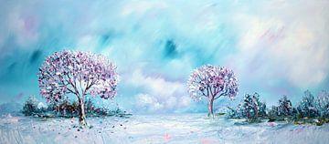 Blaue Natur von Gena Theheartofart