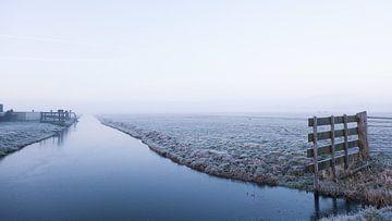 Winter in hollandse polder, Reeuwijk van Peter Boon