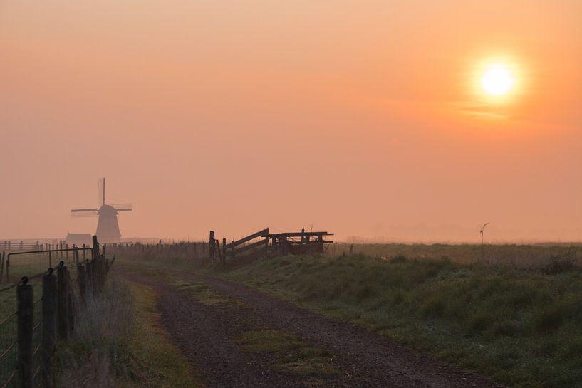 Zonsopkomst langs de Wimmenummervaart van Dirk Sander