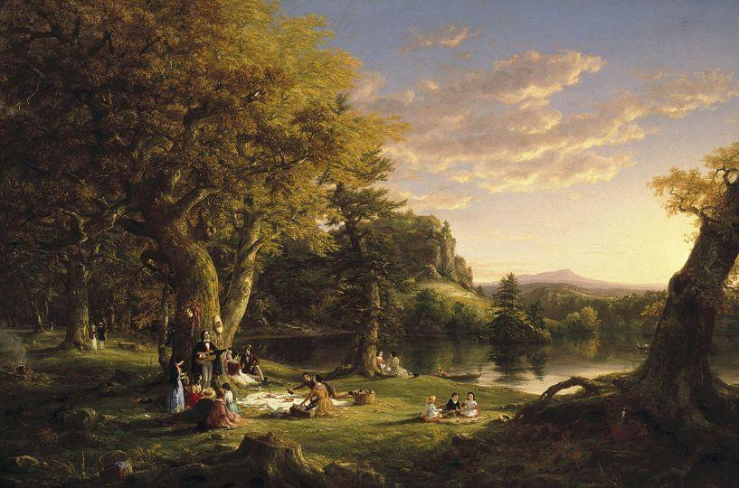 Das Picknick, Thomas Cole von Meesterlijcke Meesters