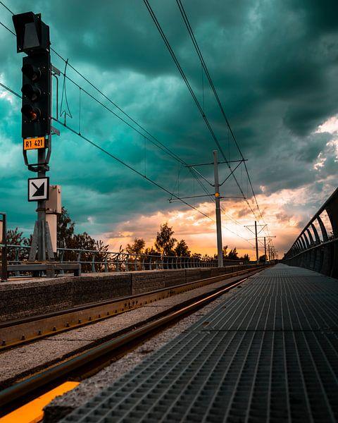 Sunset Rails van Chris Koekenberg