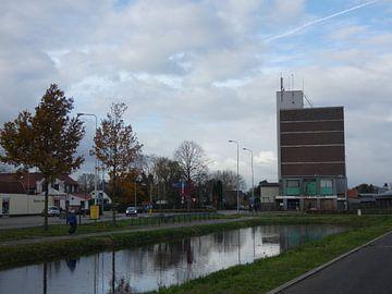 Fabriek in het dorp Wekerom van Wilbert Van Veldhuizen