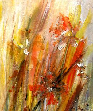 verspielt - abstrakte Blumen von Claudia Gründler