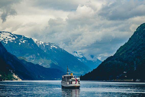 Hardangerfjord, Odda, Noorwegen van Lars van 't Hoog