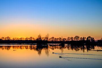 Sonnenuntergang auf dem Logtse Velden in der Nähe der Beerze von Gerry van Roosmalen
