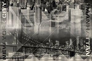 Modern Art MANHATTAN SKYLINES | Vintage