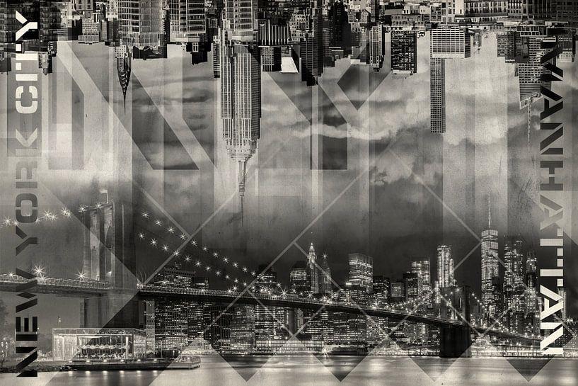 Modern Art MANHATTAN SKYLINES | Vintage van Melanie Viola