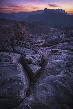 Jebel Shams Massiv im Abendrot