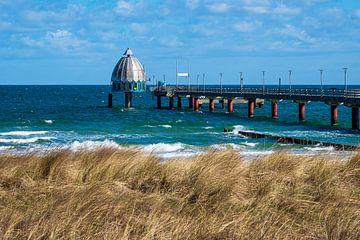 pier aan de Oostzeekust in Zingst op de Fischland-Darß van Rico Ködder