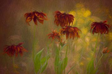Blumen auf dem Feld von Francis Dost