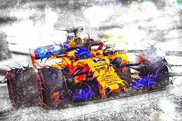 A COOL GUY -  Fernando Alonso #14 van Jean-Louis Glineur alias DeVerviers