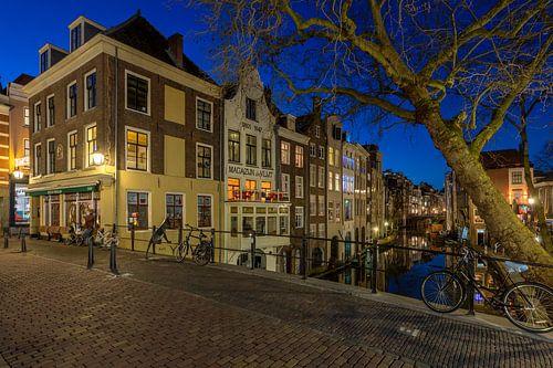 Gaardbrug en huizen Lijnmarkt, Utrecht