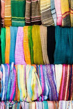 Kleurige stoffen van Wicek Listwan
