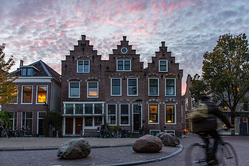 Zonsondergang in Utrecht van