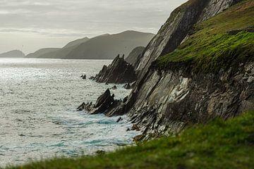 Ierland - Dingle Peninsula - Dunmore Head - ruige kliffen van Meleah Fotografie