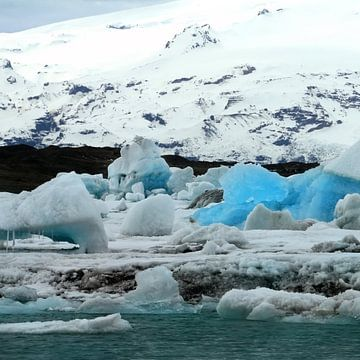 Jökulsárlón gletsjermeer van