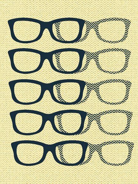 Glasses Black & Cream van Mr and Mrs Quirynen