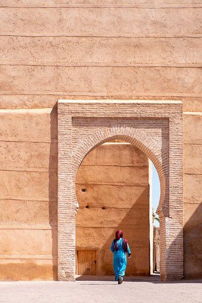 Vrouw in Marrakesh van Evelien Oerlemans