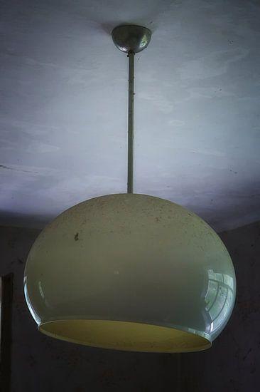 Stoffig glazen plafondlamp van Jan Brons