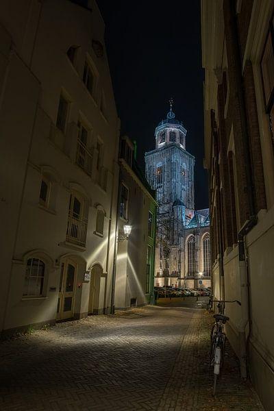 'Spot on' (Lebuïnus toren, Deventer) van Remco Lefers