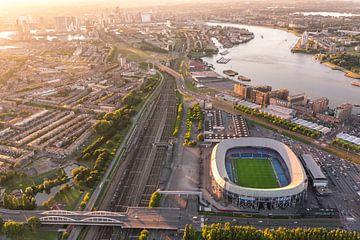 Luchtfoto Stadion Feijenoord - De Kuip - Feyenoord sur Prachtig Rotterdam