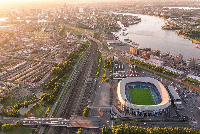 Luchtfoto Stadion Feijenoord - De Kuip - Feyenoord van Prachtig Rotterdam