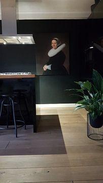 Klantfoto: Portret van Adriana Croes, Jan Verspronck