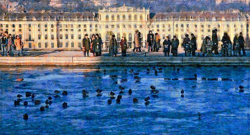 Wintertag in Schönbrunn sur Leopold Brix