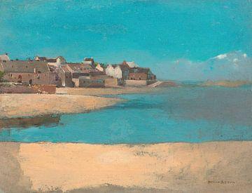 Dorf am Meer in der Bretagne, Frankreich, Odilon Redon (1880) von Atelier Liesjes