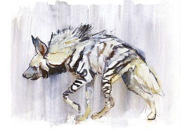 Gestreifte Hyäne von Mark Adlington