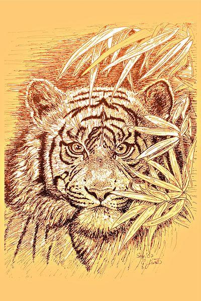 King Of The Jungle in light orange