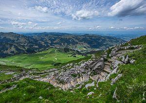 Schwarzsee vanaf de Kaiseregg in Zwitserland van
