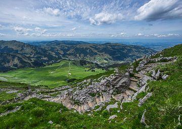 Schwarzsee vanaf de Kaiseregg in Zwitserland van Bert Buijsrogge